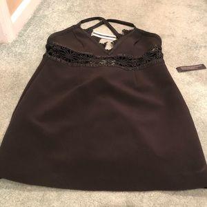TopShop Black lace mini dress